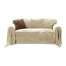 Plush Loveseat Slipcover Throw