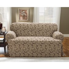 <strong>Sure-Fit</strong> Scroll Classic Loveseat T Cushion Skirted Slipcover