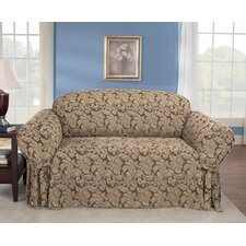 Scroll Classic Loveseat Skirted Slipcover