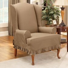 <strong>Sure-Fit</strong> Colette Wing Chair T-Cushion Slipcover