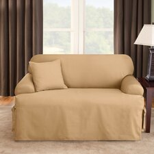 <strong>Sure-Fit</strong> Logan Sofa T-Cushion Slipcover