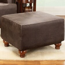 <strong>Sure-Fit</strong> Stretch Leather Ottoman Slipcover