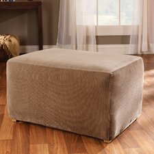 <strong>Sure-Fit</strong> Stretch Stripe Ottoman Slipcover