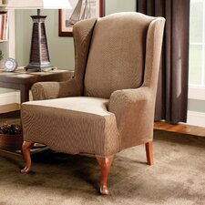 <strong>Sure-Fit</strong> Stretch Stripe Wing Chair Slipcover