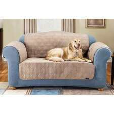 <strong>Sure-Fit</strong> Soft Suede Furniture Friend Loveseat Cover