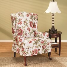 Stretch Olivia Wing Chair T Cushion Slipcover