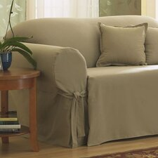 Cotton Duck Sofa Skirted Slipcover