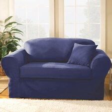 <strong>Sure-Fit</strong> Twill Supreme Separate Seat Sofa Slipcover