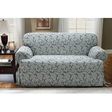 <strong>Sure-Fit</strong> Scroll Classic Sofa T Cushion Skirted Slipcover