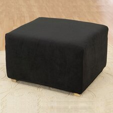<strong>Sure-Fit</strong> Stretch Pique Ottoman Slipcover