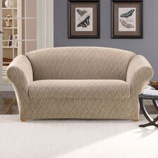 <strong>Sure-Fit</strong> Stretch Braid Loveseat Slipcover