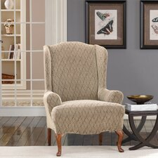 <strong>Sure-Fit</strong> Stretch Braid Wing Chair Slipcover