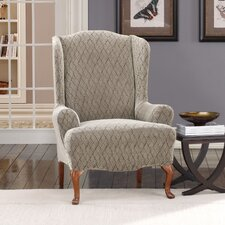 Stretch Braid Wing Chair Slipcover