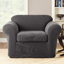 <strong>Sure-Fit</strong> Stretch Metro 2-Piece Club Chair Slipcover
