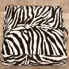 Casual Covers Velvet Zebra Floor Pillow