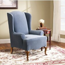 <strong>Sure-Fit</strong> Stretch Pearson Wing Chair Slipcover