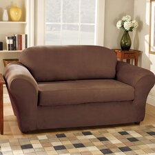 <strong>Sure-Fit</strong> Stretch Suede Separate Seat Sofa Slipcover