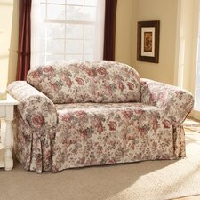 Chloe Floral Loveseat Skirted Slipcover