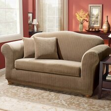 <strong>Sure-Fit</strong> Stretch Pinstripe Two Piece Sofa Slipcover