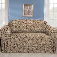 <strong>Sure-Fit</strong> Scroll Classic Sofa Skirted Slipcover