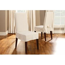 <strong>Sure-Fit</strong> Cotton Duck Shorty Dining Chair Slipcover