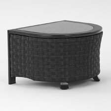 "Luxe ""U"" Shaped Glass Top Side Table"