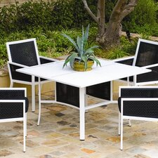 Parkview Woven Square Dining Table with Umbrella Hole