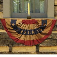Heritage Antiqued Patriotic Pleated Flag