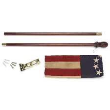 Heritatge Series Antiqued Colonial Traditional Flag Set