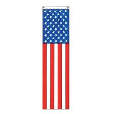 Patriotic 50-Star Vertical Flag