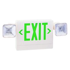 Exit/Emergency Light Combo in Green