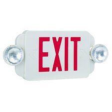 Exit/Emergency Combo Light in Red