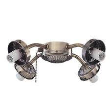 <strong>Royal Pacific</strong> Four Light Ceiling Fan Light Fitter