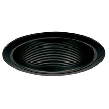 "6"" Baffle with Black Trim Ring in Black"