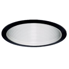 "6"" Baffle with Black Trim Ring in White"