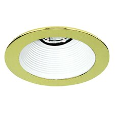 "4"" Baffle with Polished Brass Trim Ring with White"