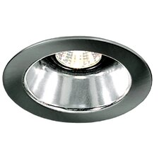 "4"" Specular Cone with Brushed Aluminum Trim Ring in White"