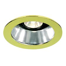 "4"" Specular Cone with Polished Brass Trim Ring in White"