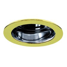 "3"" Reflector Trim for Recessed Housing with Polished Brass Ring in Clear"