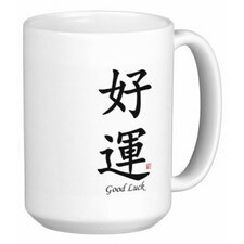Chinese Traditional Calligraphy Good Luck 15 oz. Coffee / Tea Mug (Set of 4)