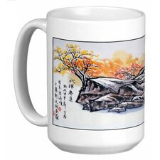 Chinese Calligraphy Art Hilltop Village 15 oz. Coffee / Tea Mug