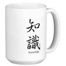 Chinese Stylish Calligraphy Knowledge 15 oz. Coffee / Tea Mug (Set of 4)