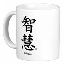 <strong>Oriental Design Gallery</strong> Chinese Traditional Calligraphy Wisdom 11 oz. Coffee / Tea Mug