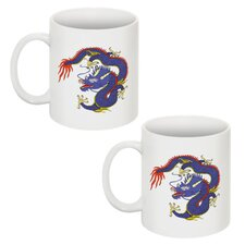 Chinese Dragon 11 oz. Coffee / Tea Mug (Set of 2)
