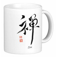 Chinese Calligraphy Zen 11 oz. Coffee / Tea Mug (Set of 4)