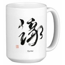 Chinese Calligraphy Karma 15 oz. Coffee / Tea Mug (Set of 4)