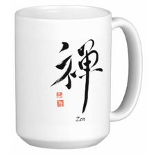 Chinese Calligraphy Zen 15 oz. Coffee / Tea Mug (Set of 4)