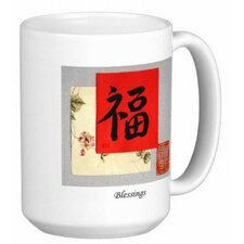 Chinese Calligraphy Blessings 15 oz. Coffee / Tea Mug (Set of 4)