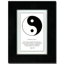 Yin Yang and Love Poem Framed Graphic Art