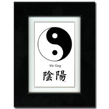 Yin Yang and Calligraphy Framed Graphic Art
